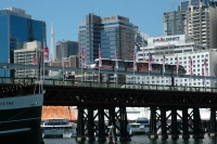 Monorail crosses Darling Harbour