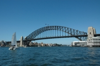 First glimpse of the Sydney Harbour Bridge