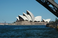 First glimpse of the Sydney Opera House